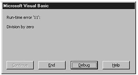 Handling Vba Runtime Errors Fundamentals Che Junkie